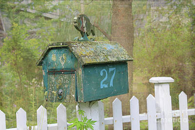 Photograph - Old World Mailbox by Nina Silver