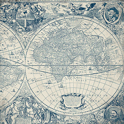 Old World Map Digital Art - Old World Map by Brandi Fitzgerald