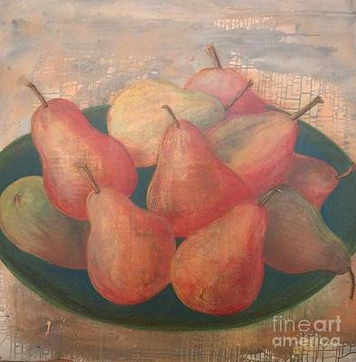 Painting - Old World Pears by Jeanie Watson