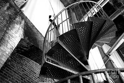 Photograph - Old World Staircase Mono by John Rizzuto