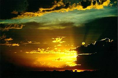 Old World Sunset Art Print by Shirley Sirois