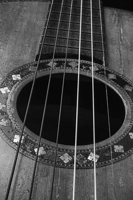Autistic Photograph - Old Worn Guitar by Garry Gay