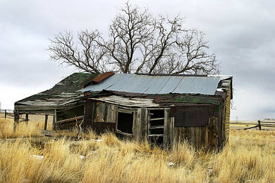 Photograph - Old Wyoming Farmhouse by Anthony Jones