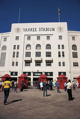 Old Yankee Stadium Last Game Art Print
