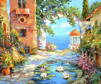 Painting - Old Yard  by Dmitry Spiros