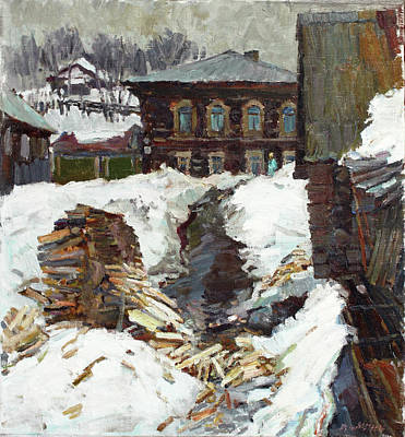 Painting - Old Yard by Juliya Zhukova