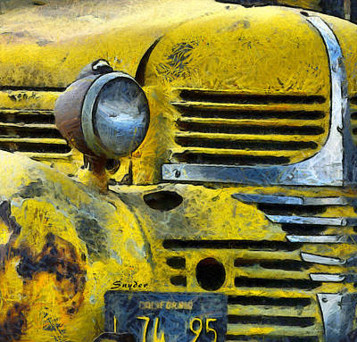 Photograph - Old Yeller Dodge Cuyama Valley by Floyd Snyder