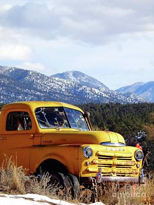 Photograph - Old Yellow Dodge Truck Photography by CheyAnne Sexton