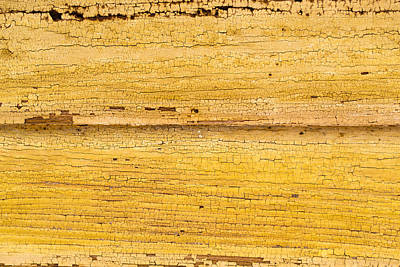 Old Yellow Paint On Wood Art Print by John Williams