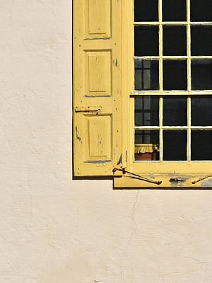 Photograph - Old Yellow Shutters by Val Arie