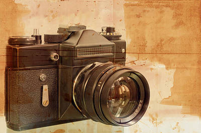 Aperture Mixed Media - Old,dusty Photo Camera by Boyan Dimitrov