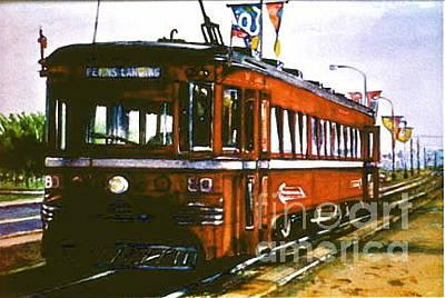 Philadelphia Pa Painting - Olde City Trolley by Joyce A Guariglia