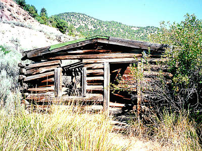Photograph - Old Miner's Cabin On Shore Of The Colorado River by Merton Allen