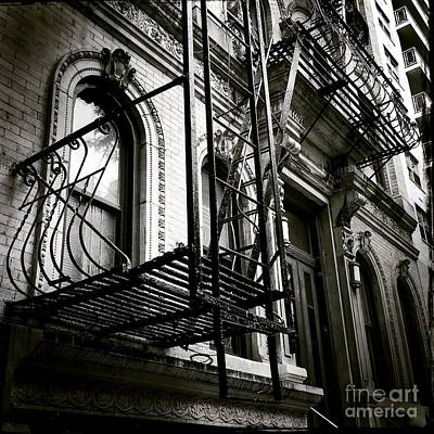 Photograph - Olde New York - Windows And Fire Escapes by Miriam Danar