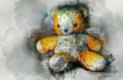 Mixed Media - Olde Teddy Bear by Ian Mitchell