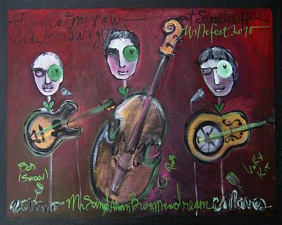 Painting - Olde Town Swing Band by Laurie Maves ART