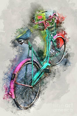 Mixed Media - Olde Vintage Bicycle by Ian Mitchell