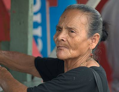 Photograph - Older Woman From Panama 2 by Douglas Pike
