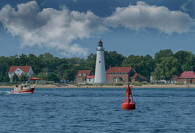 Photograph - Oldest Lighthouse In Michigan by Scott Bert