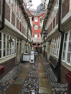 Photograph - Krameramtsstuben The Oldest Street In Hamburg Germany by Suzanne Lorenz