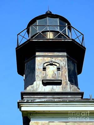 Digital Art - Oldfield Point Lighthouse by Ed Weidman