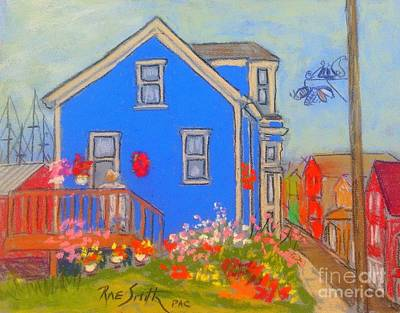 Pastel - Oldlady's Flower Garden by Rae  Smith PAC