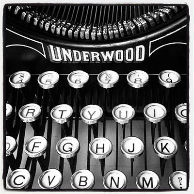 Typewriter Photograph - #oldskool #typewriter #blackandwhite by Alicia Boal