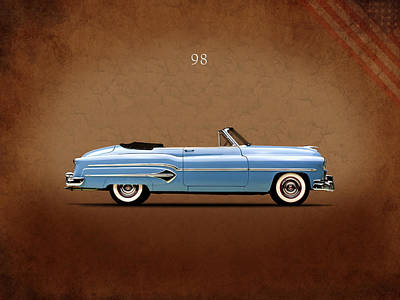 Photograph - Oldsmobile 98 1951 by Mark Rogan