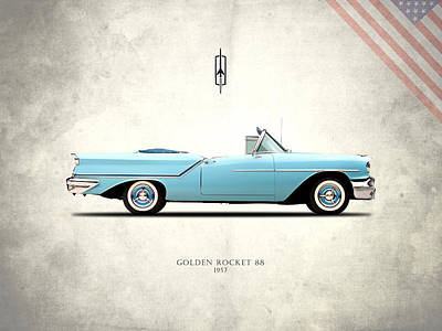 Photograph - Oldsmobile Golden Rocket 88 1957 by Mark Rogan