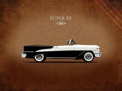 Photograph - Oldsmobile Super 88 1955 by Mark Rogan