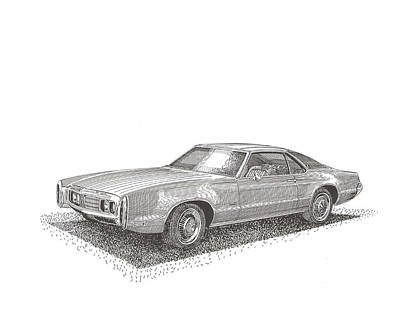 Drawing - Oldsmobile Tornado S C by Jack Pumphrey