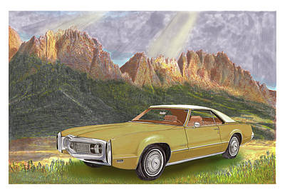 Painting - Oldsmobile Toronado Organ Mountains by Jack Pumphrey