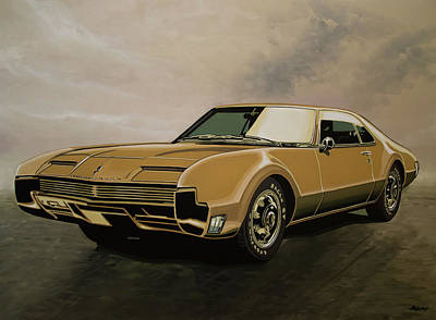 Mustang Car Painting - Oldsmobile Toronado 1965 Painting by Paul Meijering