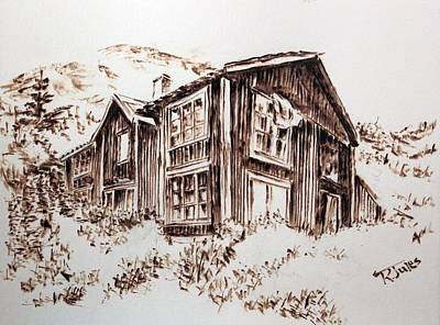 Pyrography Painting - Oldstead by Richard Jules