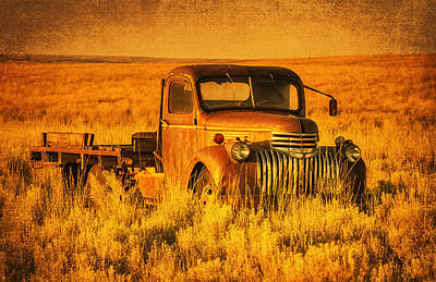Vintage Chevrolet Truck Photograph - Oldtimer by Mark Kiver