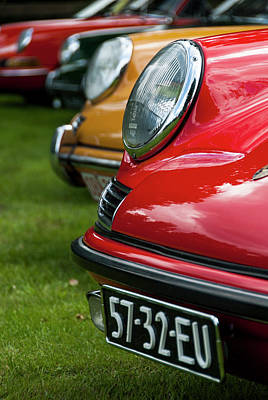 Photograph - Oldtimer Porsches In Line by 2bhappy4ever