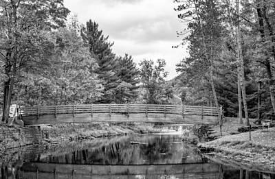 Bull Creek Photograph - Ole Bull State Park - Pennsylvania - Bw by Steve Harrington