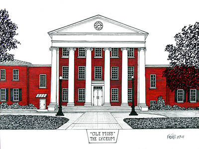 Drawing - Ole Miss by Frederic Kohli