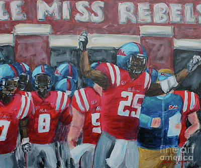 Painting - Ole Miss Ready by Leslie Saucier