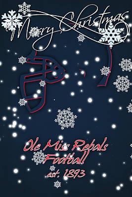 Ole Miss Rebels Christmas Card 2 Print by Joe Hamilton