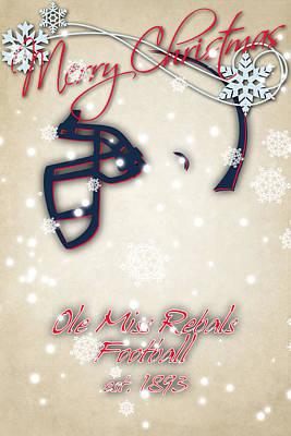 Ole Miss Rebels Christmas Card Print by Joe Hamilton