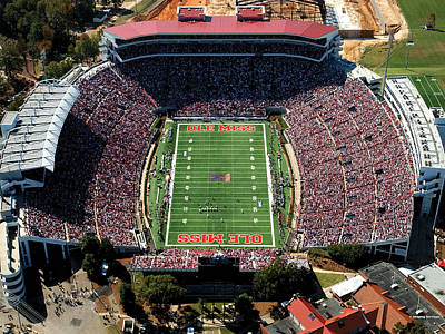 Hemingway Photograph - Ole Miss Vaught-hemingway Stadium Aerial View by University of Mississippi - Imaging Services - Athletics