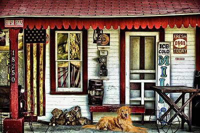 Wall Art - Photograph - Americana Ole Mission Store by J Thomas