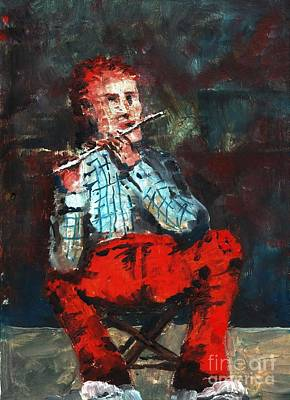 Painting - F 756 Ole Redser Pants On The Whistle by Val Byrne