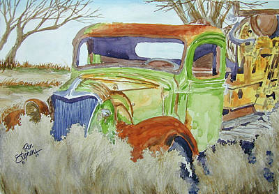 Ole Rusty Green Art Print by Ron Stephens