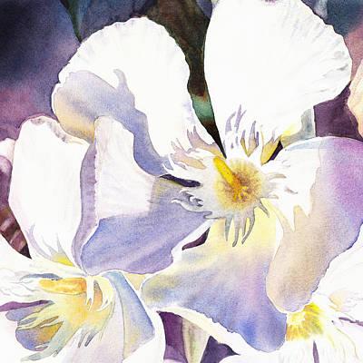 Painting - Oleander Flower - Irina Sztukowski by Irina Sztukowski