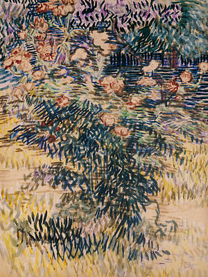 Oleanders Painting - Oleanders, The Hospital Garden At Saint Remy, 1889 by Vincent Van Gogh