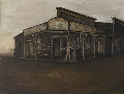 Painting - Drowns The Whiskey, Sam's Senate Saloon by Michael Silbaugh