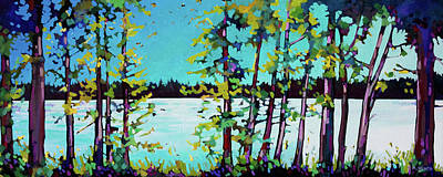 Wall Art - Painting - Ole's Lake  by Alison Newth