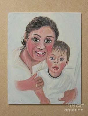Painting - Olga And Lev. Portrait by Oksana Semenchenko